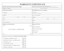 Roofing Certificate Template Warranty Word Roof