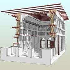 A notional sketch of a traditional construction