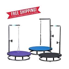 small dog grooming table round