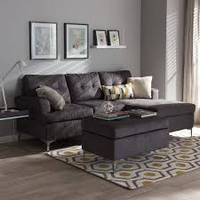 grey furniture set. Exellent Grey Baxton Studio Haemon Modern And Contemporary Grey Fabric Upholstered  3Piece Sectional Sofa With Ottoman For Furniture Set C