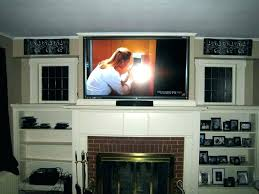 mounting tv above fireplace hiding wires how to hide wires for wall mounted over fireplace mounting