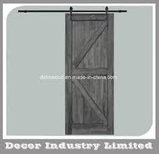 double z sliding barn door hardware kit with track