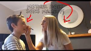 mother does sons makeup