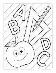 Numbers coloring pages, primary colors pages, alphabet coloring pages and preschool printables are just a few of the many preschool coloring pages, sheets and pictures in this section. Back To School Coloring Pages For Kids Itsybitsyfun Com