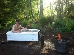 building a backcountry hot tub