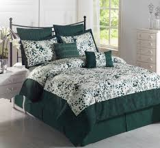 simple bedroom with 2 piece embroidered euro sham and cal king pertaining to hunter green comforter
