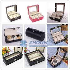 whole packaging storage display case leather men glass top packaging storage display case leather men glass top wrist pill black pu luxury watch box