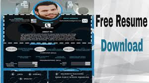 Free Resume Cv Templates Download Photoshop Youtube