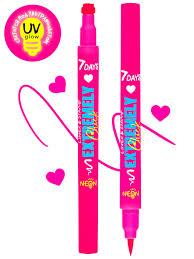 <b>Подводка</b>-маркер со <b>штампом</b> сердечко, розовая, светящаяся ...