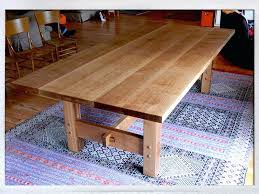 white oak dining table quarter in the craftsman style of solid washed room