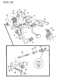 1993 dodge shadow clutch pedal linkage