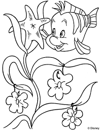 coloring page disney printable coloring fish coloring pages