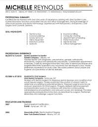 Dental Assistant Resume Examples Fascinating Dental Assistant Resume Template