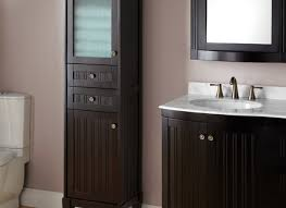 bathroom floor storage cabinets. palmetto espresso bathroom linen storage cabinet tubs showers floor cabinets