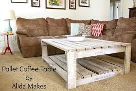 diy pallet coffe table with white wash