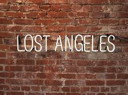 lost angeles text on wall neon light