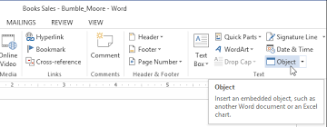 Word 2013 Embedding An Excel Chart