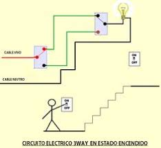staircase wiring circuit diagram how to control a lamp from 2 circuito de tres vias o 3way para controlar luz en escalera 2 electrical circuit diagram