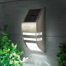 led solar flush wall light with pir sensor stainless steel lighting direct
