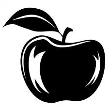 apple fruit black and white. abstract apple illustration in black and white free vector fruit