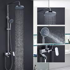 free brass chrome single handle bathtub faucet mixer tap 5 ways showers hand shower