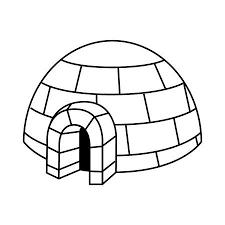 Iglo Ijzig Koud Huis Gebouwd Van Ijsblokken Traditioneel Huis Van