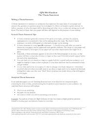 Writing Essays With Thesis Statements Thesis Statement Examples
