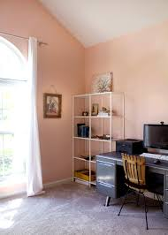 office in the home. A Blush Home Office Makeover In The