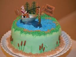 1 catching the big one fishing bass fish decoset birthday party cake topper. 32 Great Picture Of Fishing Birthday Cakes Albanysinsanity Com Fish Cake Birthday Fish Cake Boat Cake