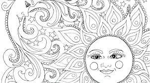 Sun And Moon Coloring Sheets Fantasy Moon Coloring Pages Sun Moon