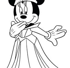 Princess Minnie Mouse Coloring Pages Mickey Basketball Goal Drawing