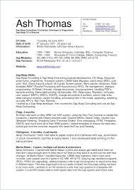 Sample Resume For Consultant Best Of Sap Abap Sample Resumes Unique Sample Resume For Sap Mm Consultant