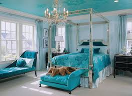 blue and green bedroom. Aqua Bedroom Design With A Mirrored Frame Blue And Green