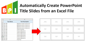 Create A Ppt Auto Create Powerpoint Title Slides From Excel Template Business