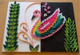 how to make a diy wall decor using bird quilling pattern