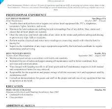 Maintenance Mechanic Resume Sample Resume Examples For Maintenance