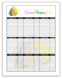 grocery list template printable grocery list template word grocery list template