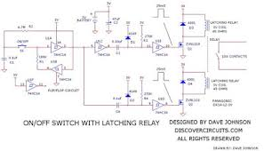 wiring schematic diagram latching relay on off switch circuit latching relay on off switch circuit