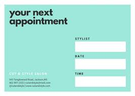 Green Card Template Mint Green And White Appointment Card Templates By Canva