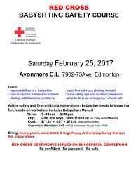 Avonmore Community League Babysitter Registry