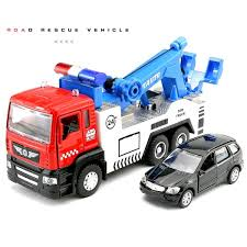 18 5cm Die Cast Tow Truck With 1 Smaller Cars 1 64 W Light Sound ...