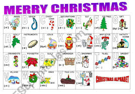 The international phonetic alphabet (ipa) is an alphabetic system of phonetic notation based primarily on the latin script. Christmas Alphabet Esl Worksheet By Milagrin