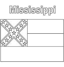 Small Picture Mississippi State Flag Coloring Page Color Luna