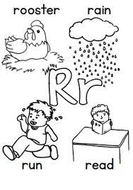 Letter R Coloring Pages Preschool Color Bros
