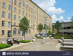 the dean clough mill plex halifax west yorkshire england uk stock image