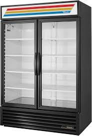 2 swing glass door merchandiser available in black or white image thumbnail