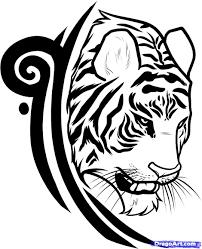 Draw A Design Tribal Tiger Tattoo Designs Draw A Tiger Tattoo Design