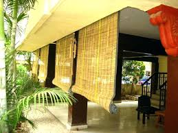 outdoor patio shades bamboo with shade and ceramic tiles material large size costco solar s