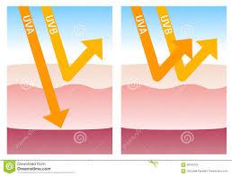 Uv A And Uv B Protection Stock Illustration Illustration Of