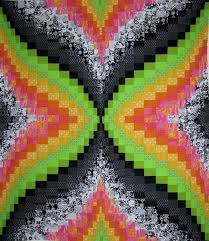 Black and White Quilt Ideas: Add a Pop of Color & Bright Bargello Quilt with Black and White Adamdwight.com